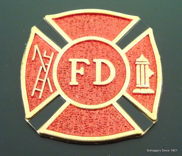 Fire Department Plaque With Fd Logo Schoppy S Since 1921