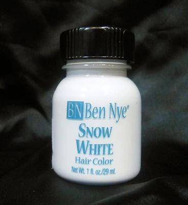 ben nye liquid hair color snow white hw 1 1fl oz 29ml brush on wash out