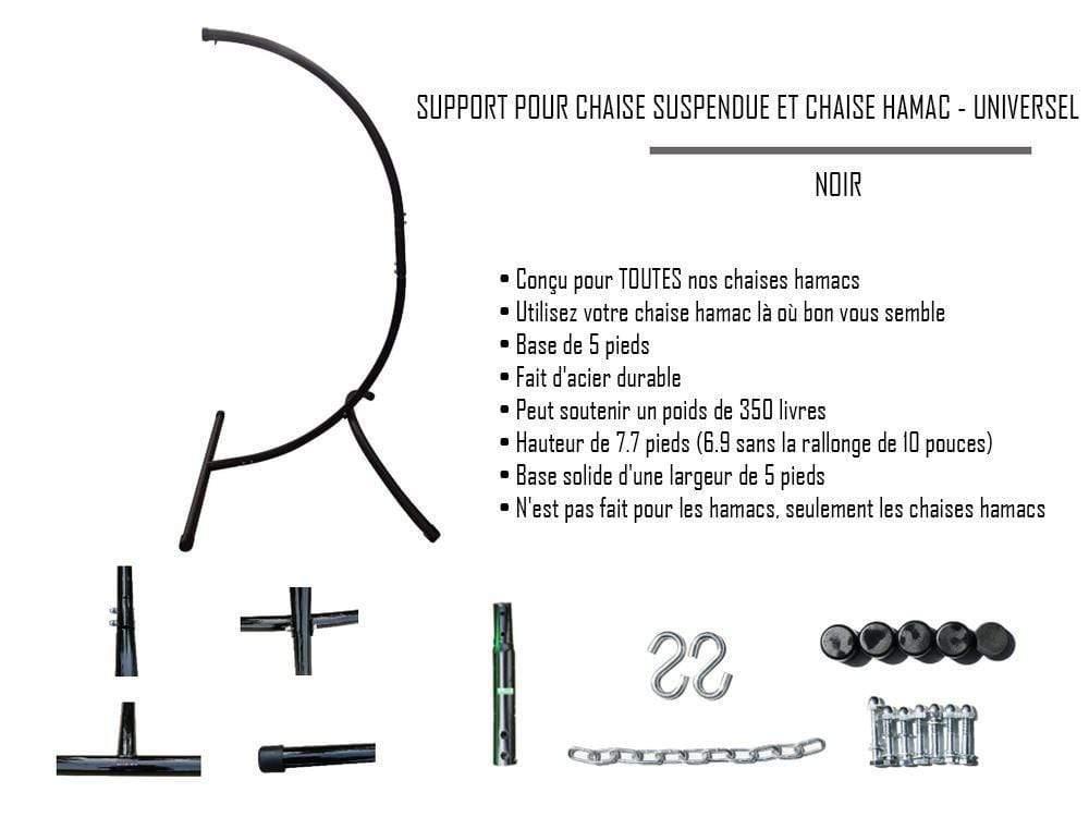 support pour chaise suspendue et chaise hamac universel