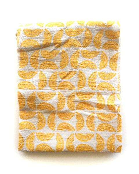 flour sack tea towel . lemons©