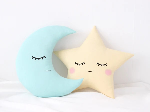 set of star and crescent moon cushions