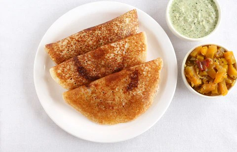 Mixed veggie dal and dosa