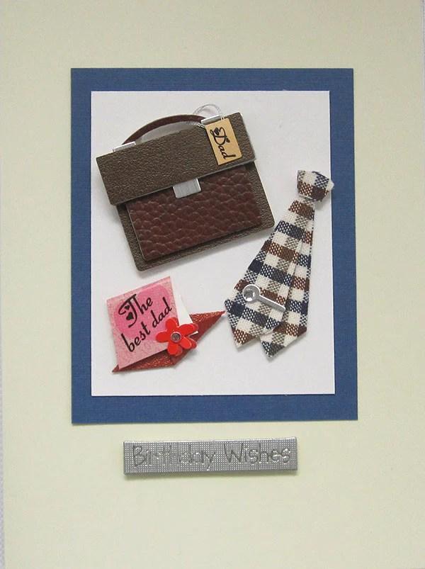 Buy Shirt N Tie Dad Handmade Birthday Card For 1 25 Uneak Boutique