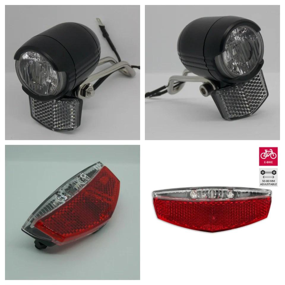 2020 Falkx Led E Bike Beleuchtung Set Scheinwerfer Rucklicht 6v 48v Alles Rad