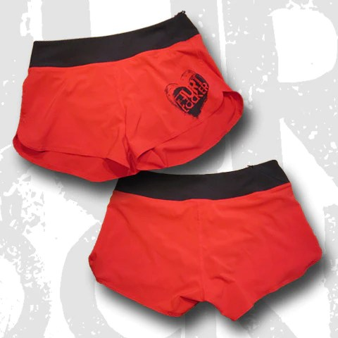 Ladies Wod Shorts All Heart Red