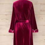 Krosno Short Red Velvet Robe With Pockets La Petite Garconne