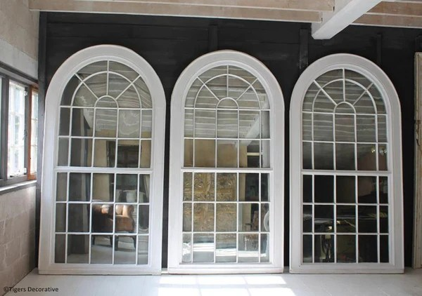 Georgian Arched Top Mirrors Home Interior Antique Large