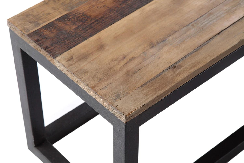banc en bois et metal industriel bc01