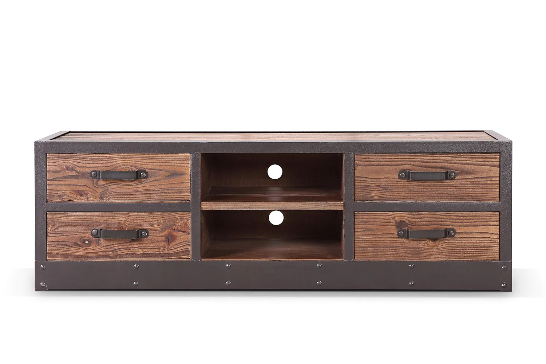 meuble tv bas industriel vintage tv02