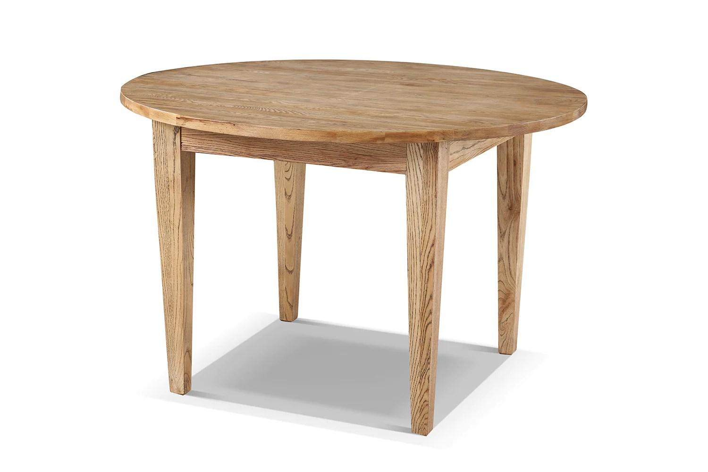 table de cuisine cottage ronde en bois