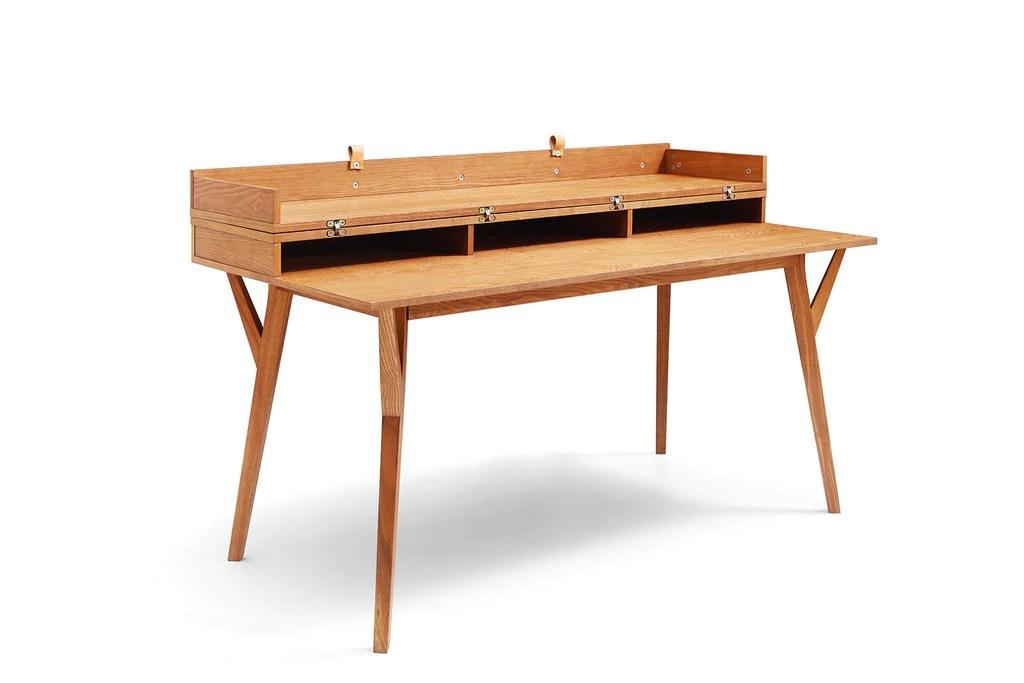 bureau design scandinave convertible en table emme