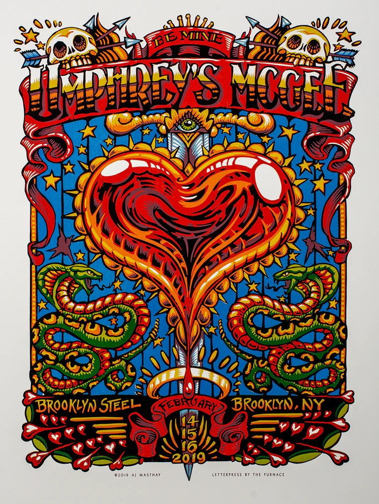 umphrey s mcgee brooklyn steel by aj masthay on sale info bottleneck art gallery