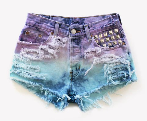 611 Vintage Dyed Studded Shorts