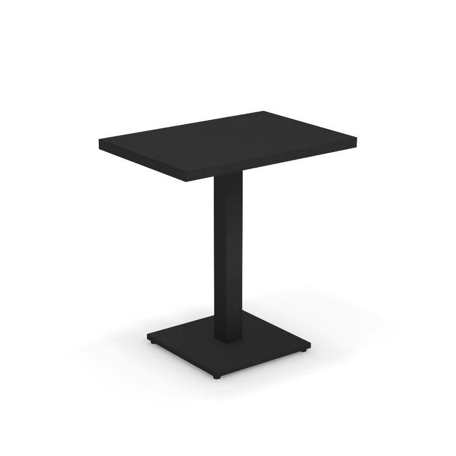 emu round pedestal table rectangular shape 50 x 70 cm