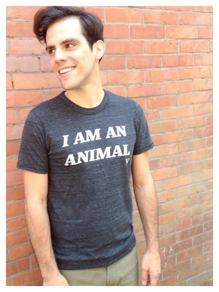 I Am An Animal Tee in Heather Black [Benefit for PETA]