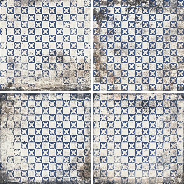 mariner 900 8x8 glazed porcelain pattern floor tile blu decor maioliche 6
