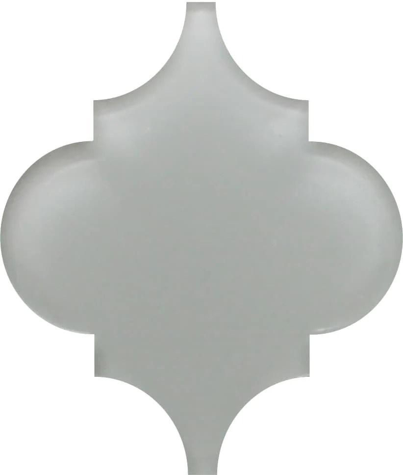 pearl grey arabesque glass mosaic tiles