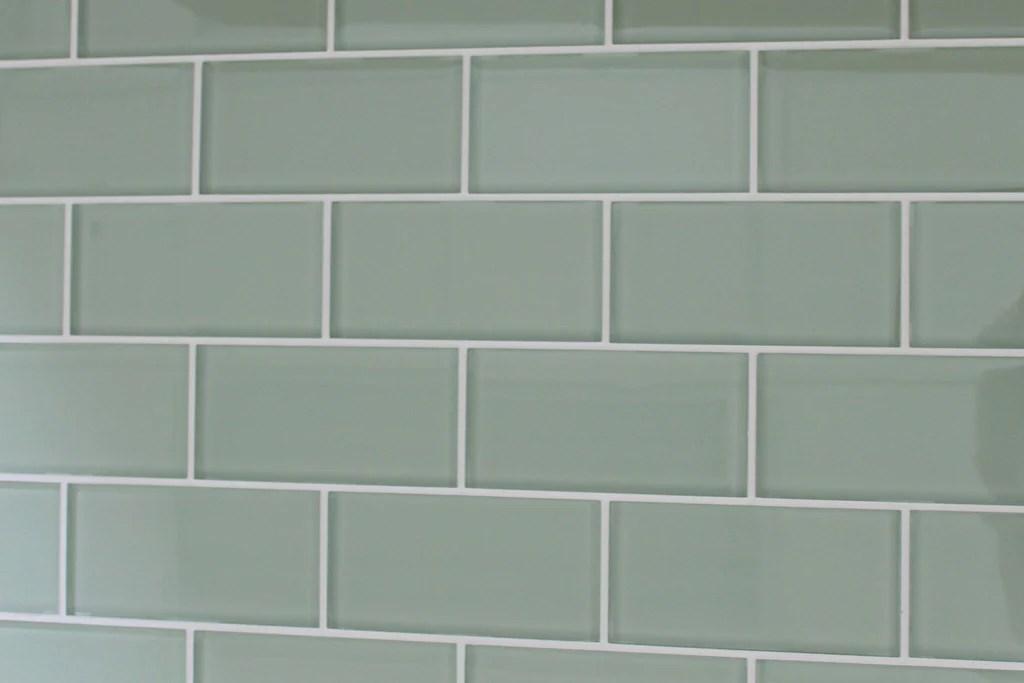 sage 3x6 glass subway tiles