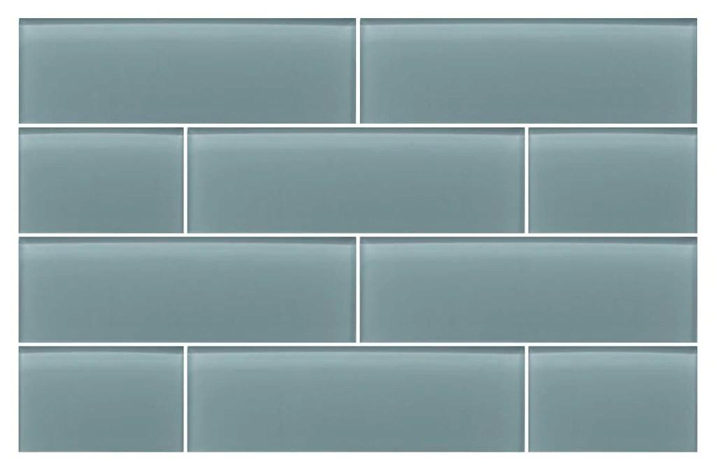seaside blue 4x12 glass subway tiles