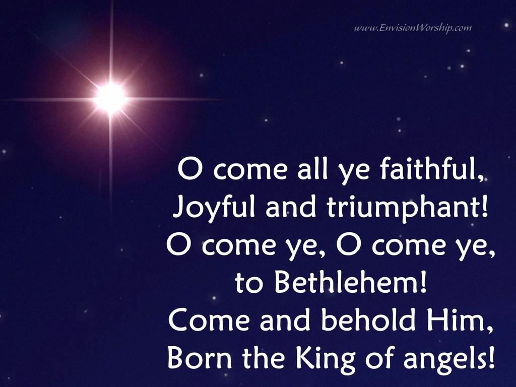 O Come All Ye Faithful With Lyrics Included Ready To Use