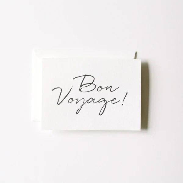 Handwritten Bon Voyage