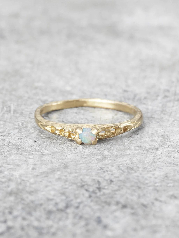 Precious Opal Pinkie Ring LUNESSA