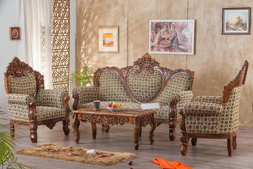 Wooden Carving Sofa Set Solid Wood Furniture Online