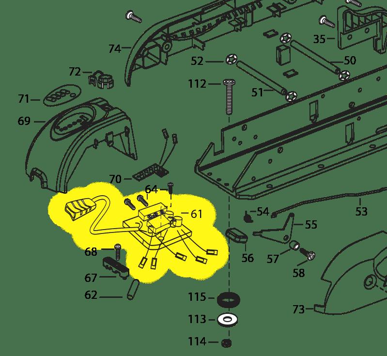 Minn Kota Terrova Foot Pedal Parts