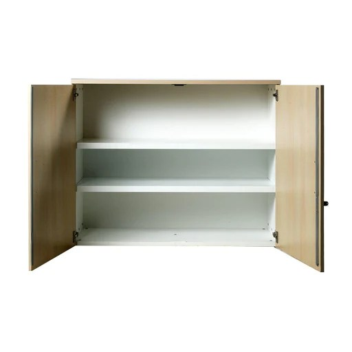armoire basse occasion bois melamine 120 x 45 x 100 cm