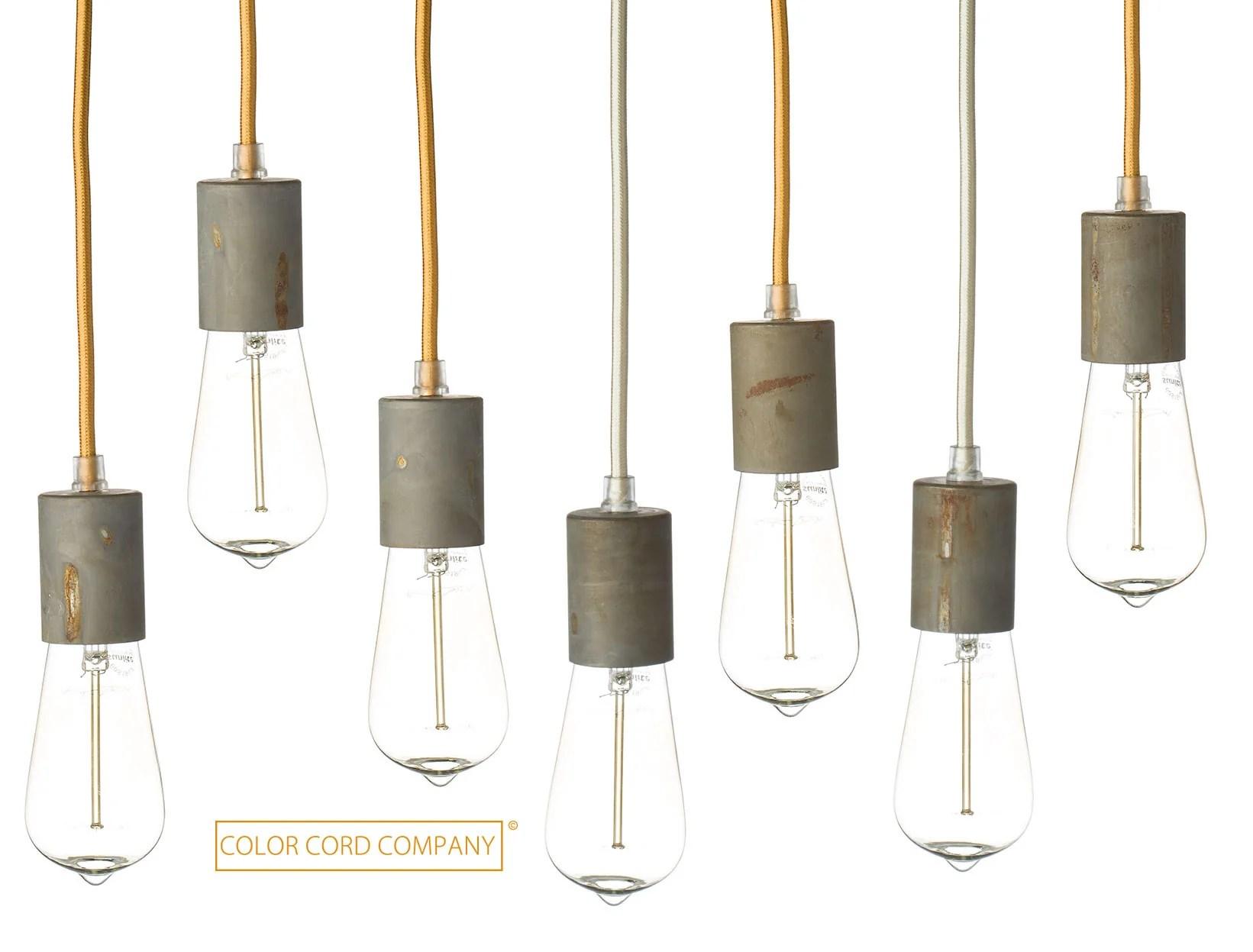 Coloured Cord Pendant Lights