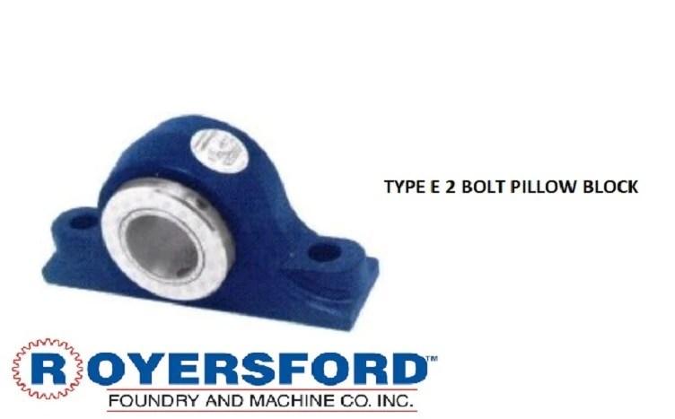 20 02 0115 royersford type e pillow block bearing 1 15 16 with timken tapered roller bearings