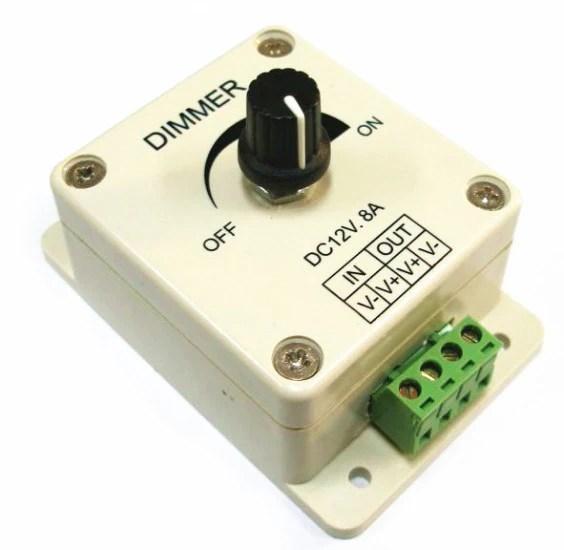 DC 12V PWM LED Lighting Dimming Device Strip Dimmer 12