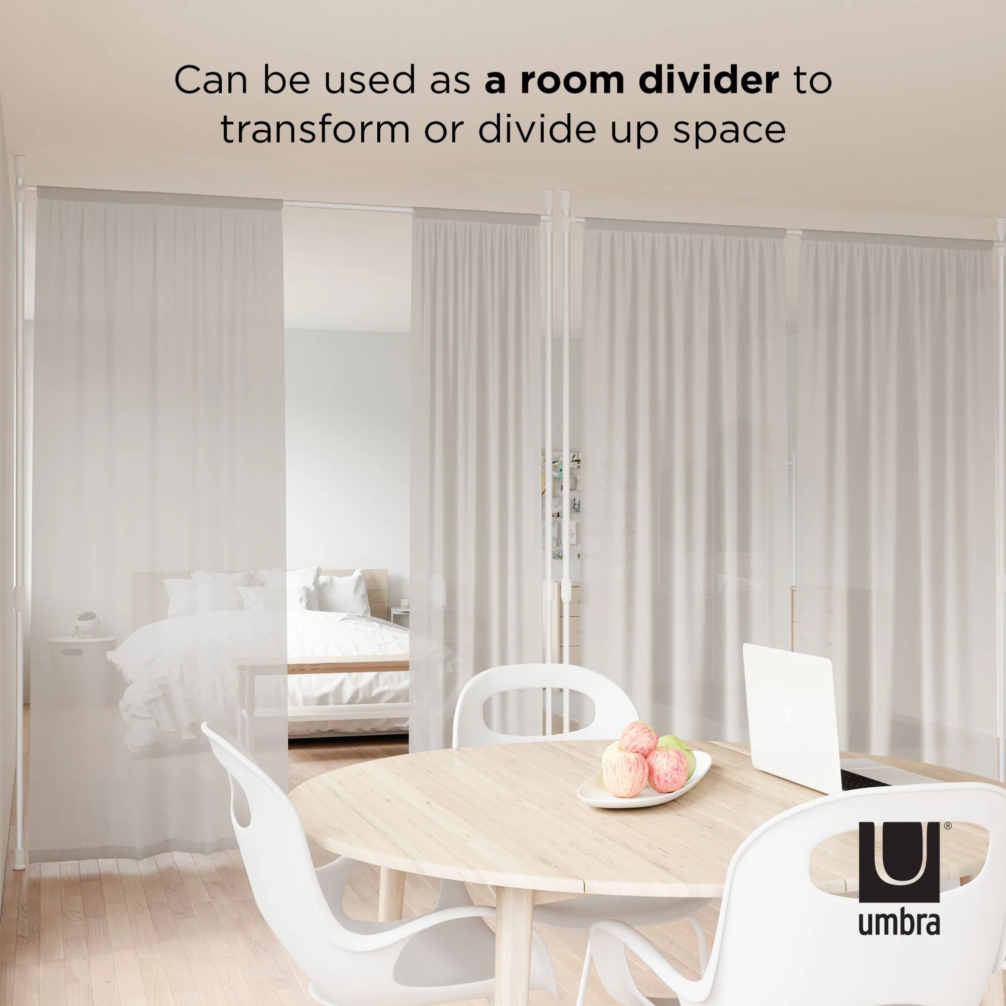 anywhere curtain rod and room divider