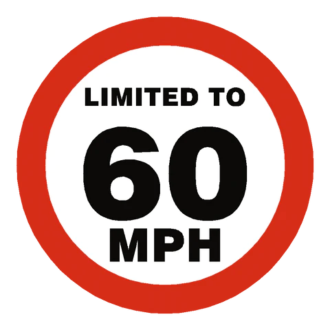 Image result for speed limit is reduced to 60mph