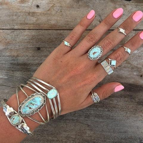 Transparent Love Opal Zuni Ring