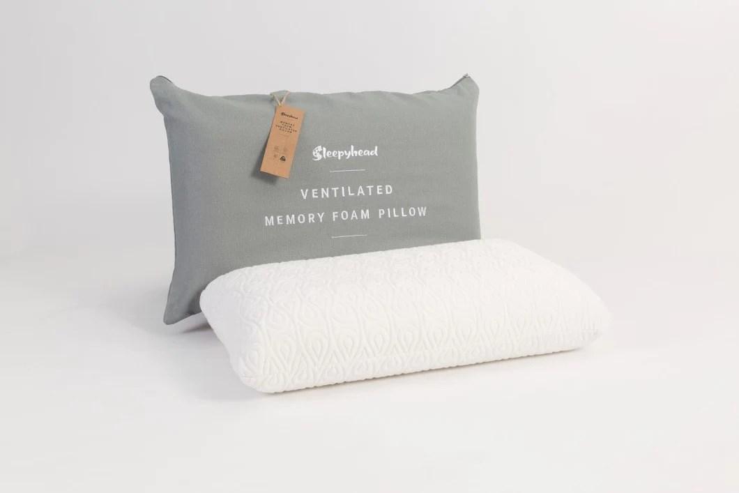 sleepyhead ventilated memory foam classic high pillow