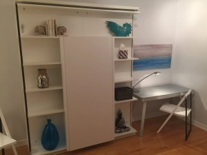 Wall Bed Revolving Bookcase With Table