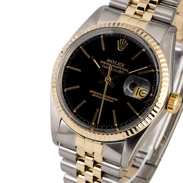 Two Tone Black Dial Datejust