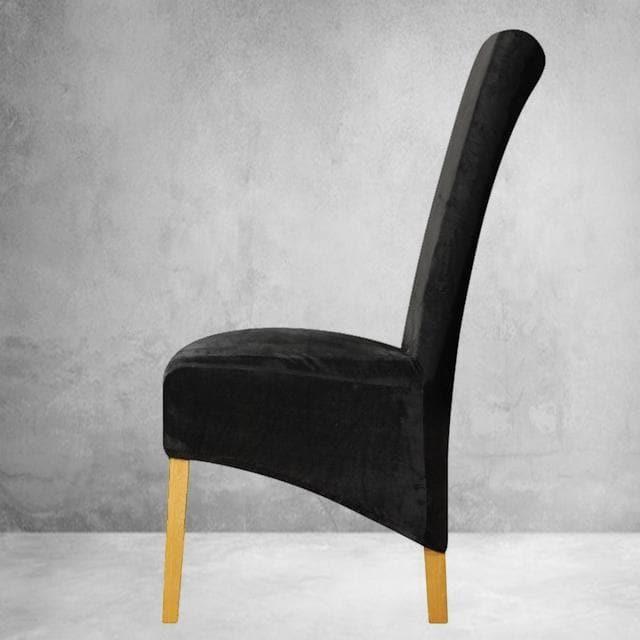 housse de chaise xl velours noir