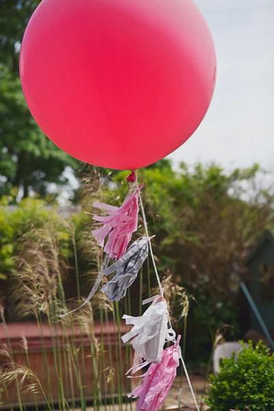 Tassel tail Big Pink Balloon