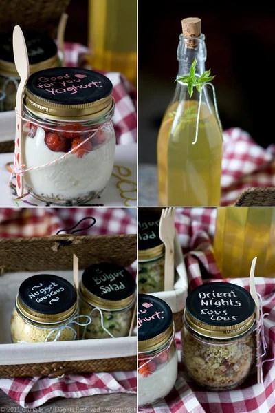 Jars and Bottles for Picnics