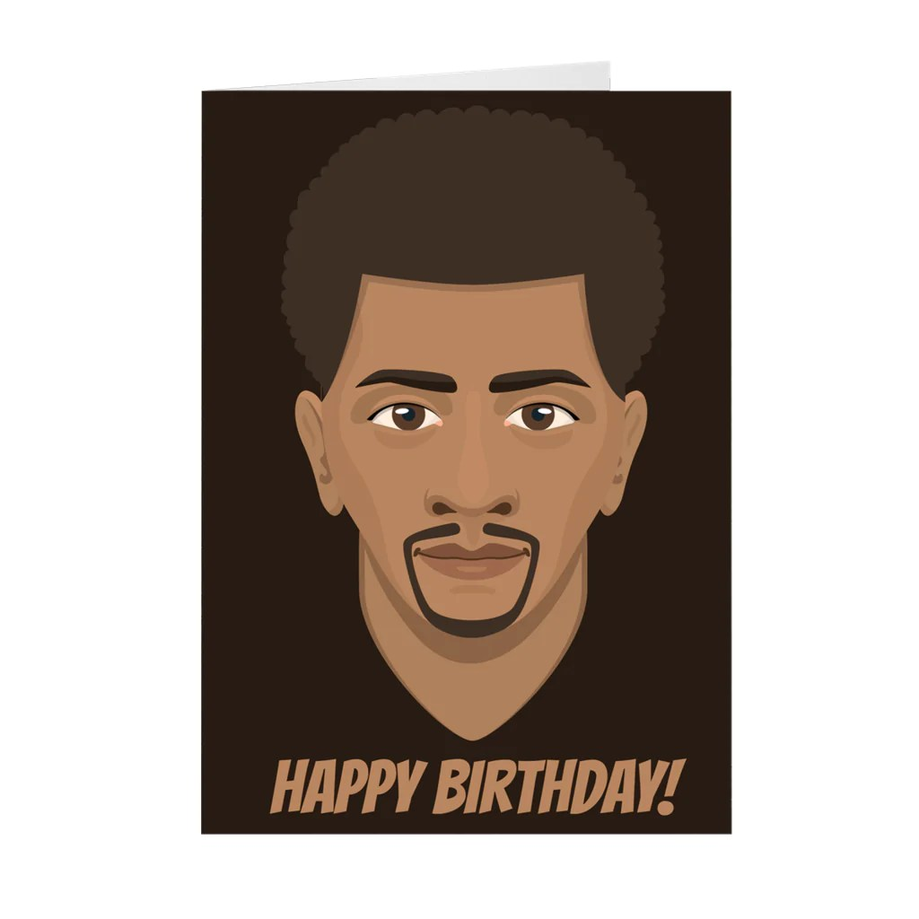Happy Birthday African American Male Birthday Greeting Card Black Stationery
