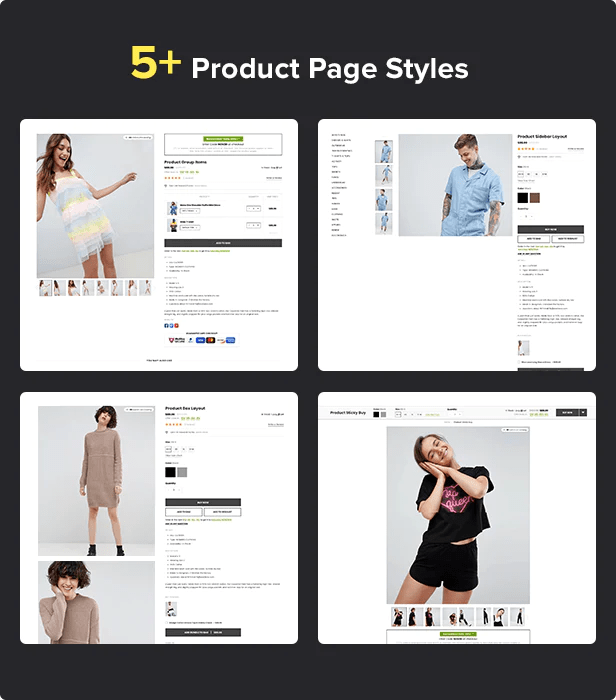 Shopify Kala with 9 detail pages