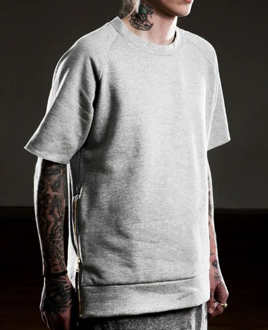 Essential Short-Sleeve Crewneck Sweatshirt