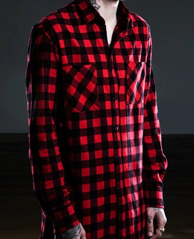 Men's Slim Flannel Shirt