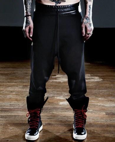 Drawstring Drop-Crotch Sweatpants