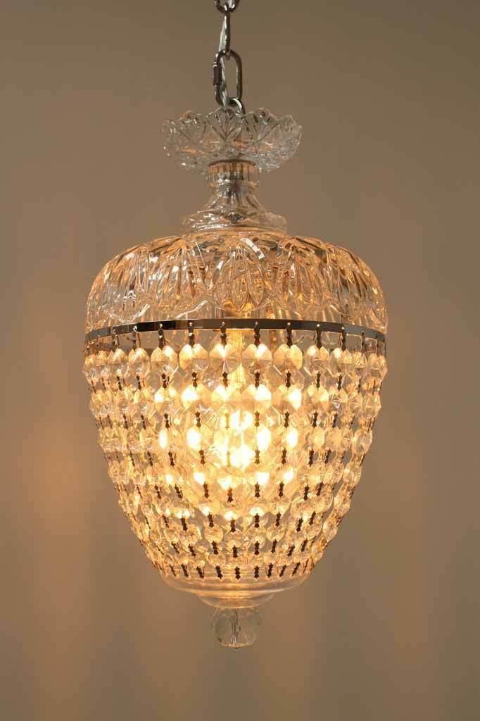 savoy crystal hanging light