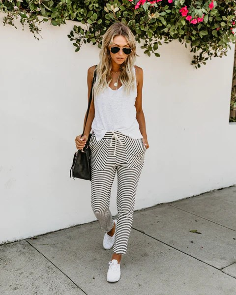 On Pace Striped Pants