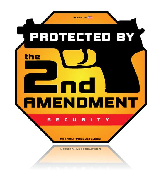 Protected by the 2nd Amendment - Window Sticker
