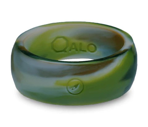 QALO Mens Camo Silicone Ring Patriot Tactical